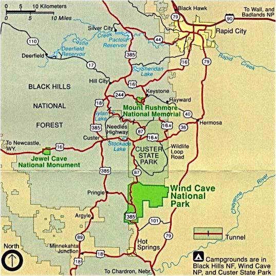 carte wind cave national park