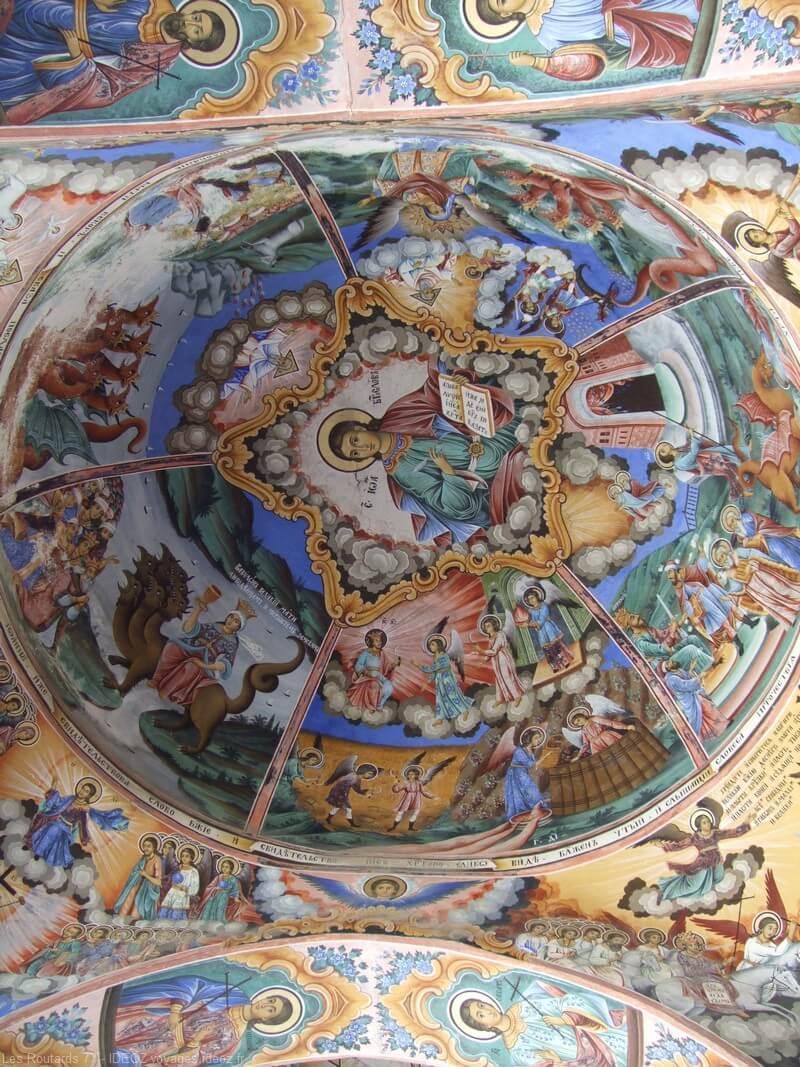 fresque de la coupole du monastère de Rila