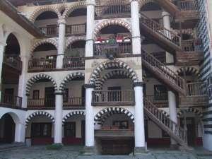 galeries du monastère rila