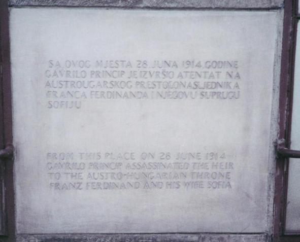 gavrilo princip lieu attentat sarajevo