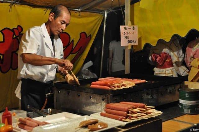 gion matsuri saucisses japonaises