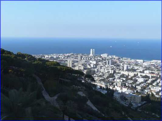 haifa depuis les hauteurs