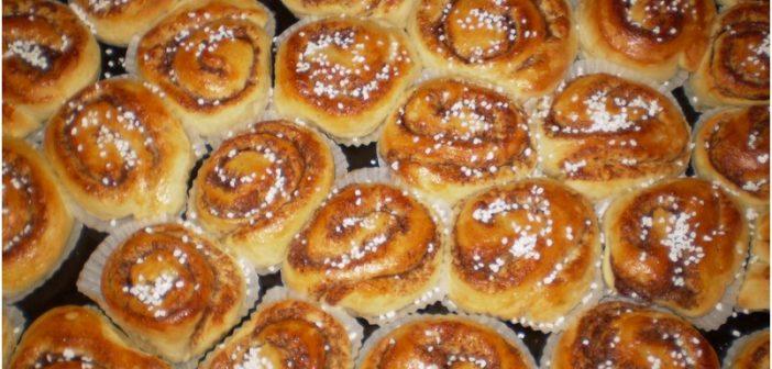 Kanelbullar ou Kanelbulle, petits gâteaux à la cannelle (Recette suedoise)