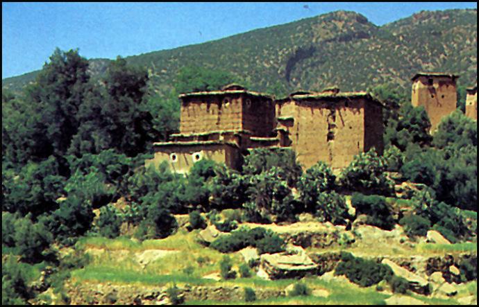 maroc haut atlas central maisons
