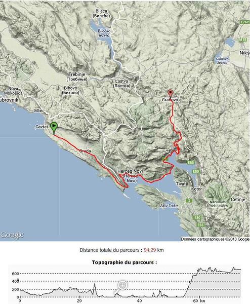 montenegro a velo topographie cavtat grahovo