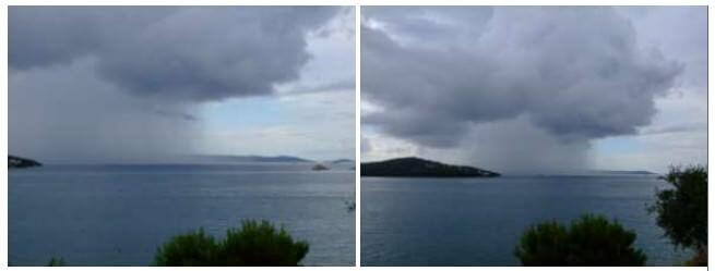 orage en Dalmatie