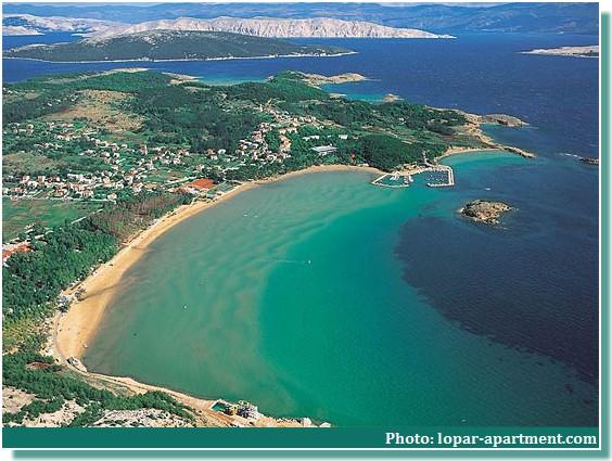 Lopar plage de sable en croatie