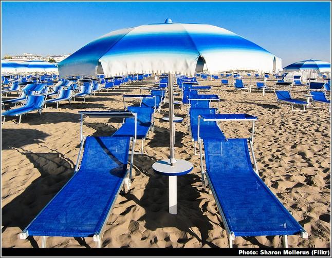 plage rimini adriatique italie