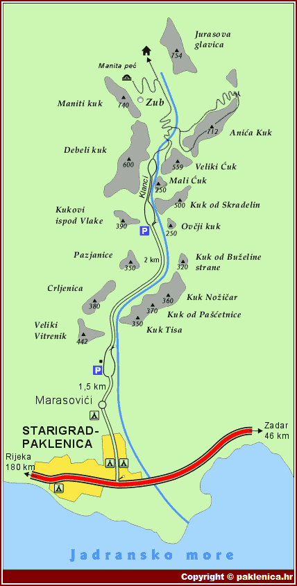 plan paklenica carte