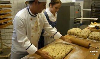 préparation des stollen de noel à la patisserie Kreutzkamm de Munich