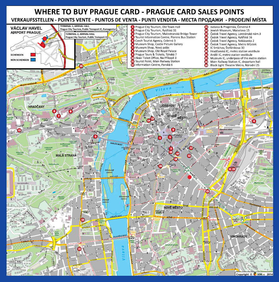 prague card points d'achat dans prague