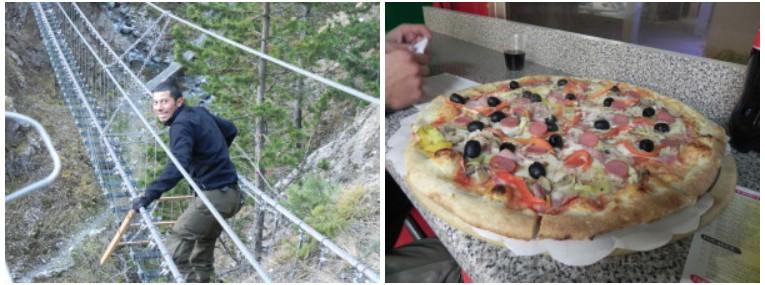 première pizza en Italie