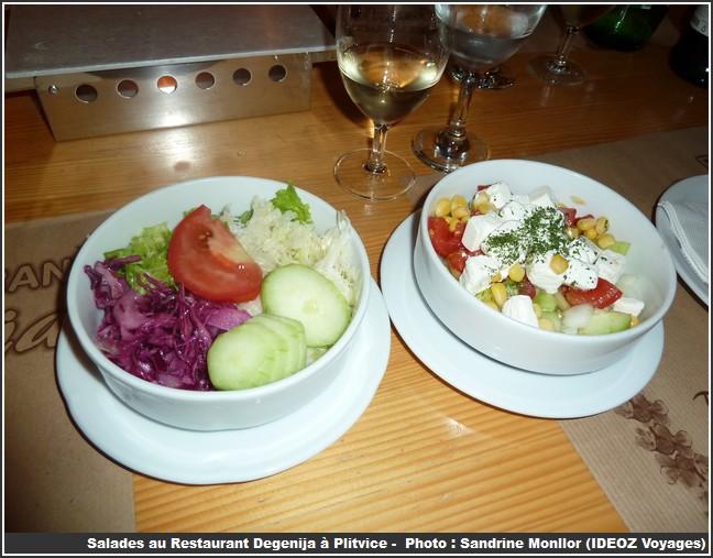 restaurant degenija plitvice salades