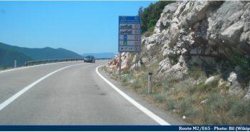 route de la mer en croatie