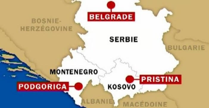 serbie kosovo carte