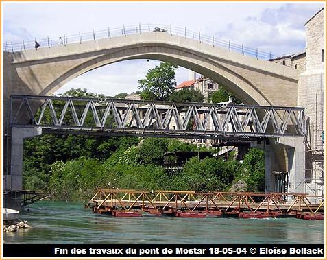 stari most fin travaux pont de mostar