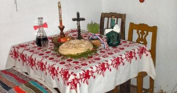 table repas reveillon noel en serbie