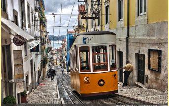 tram jaune lisbonne lisboa