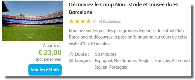 visiter le camp nou barcelone
