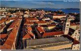 vue aerienne Zadar