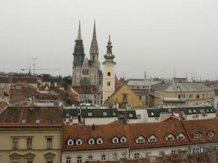vue de kaptol Zagreb