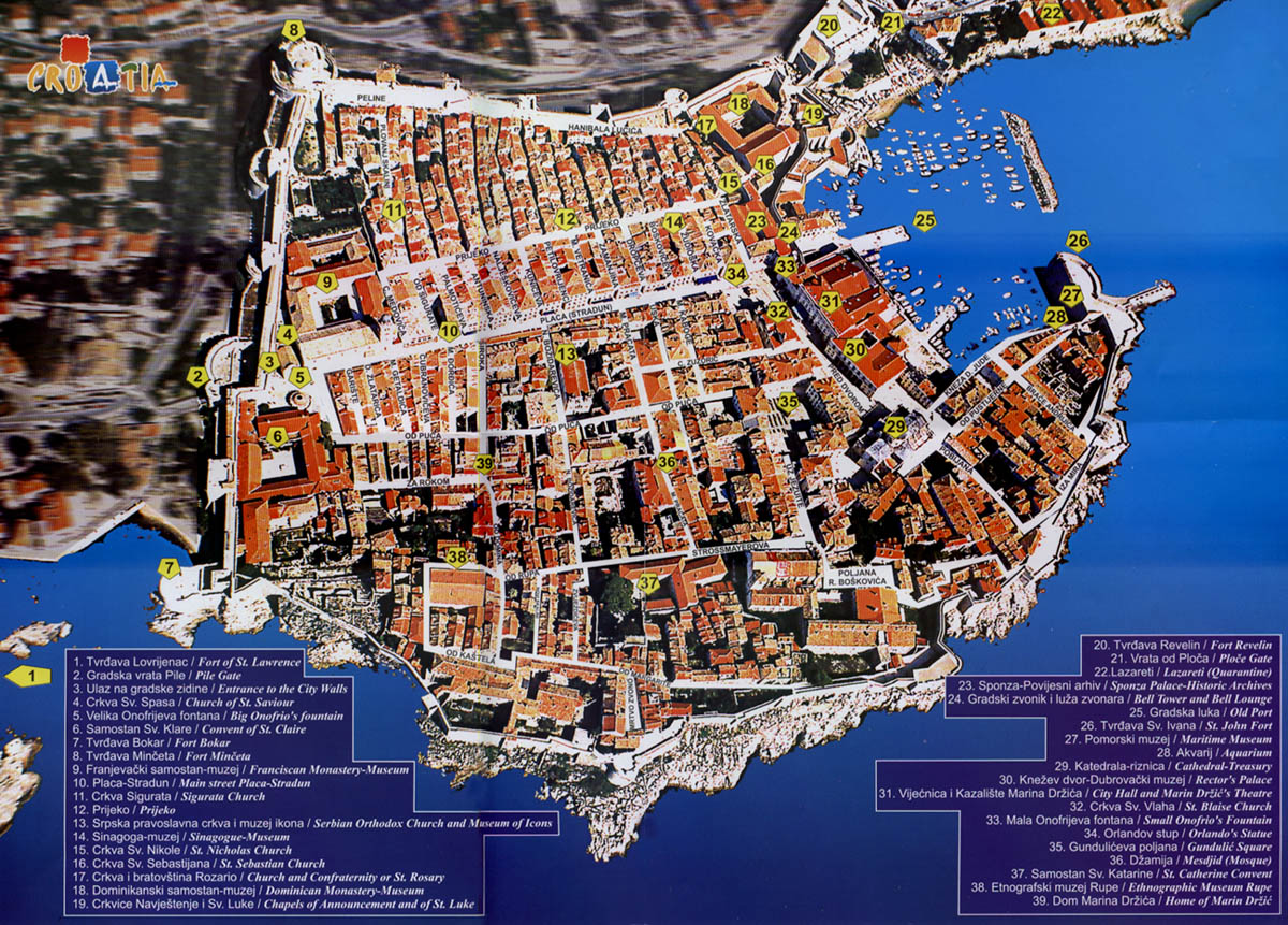 Dubrovnik carte