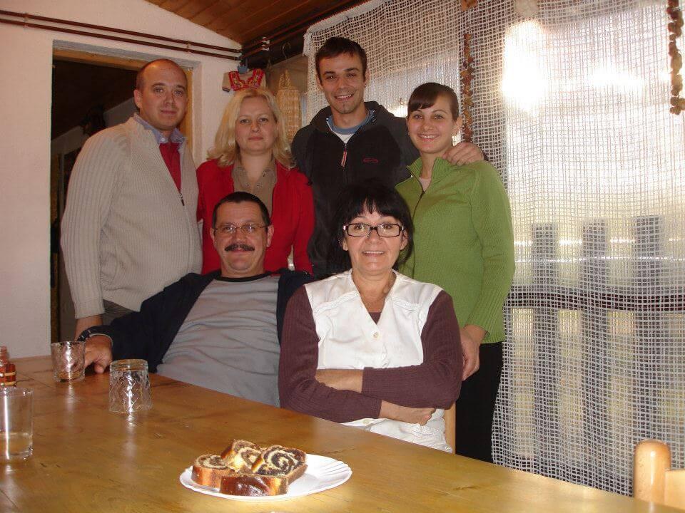 Famille Lackovic à Bilje en Slavonie