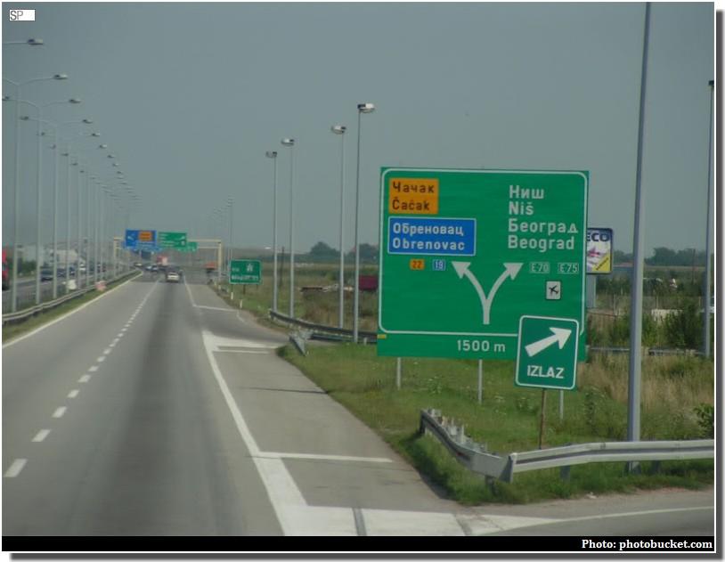 autoroute serbe