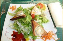 restaurant au petit gazouillis salade au chevre