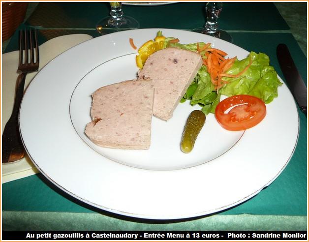 restaurant le petit gazouillis castelnaudary pate de porc