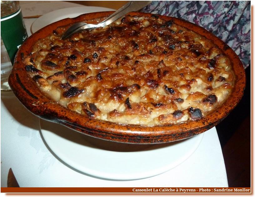 cassoulet de castelnaudary restaurant la calèche Peyrens