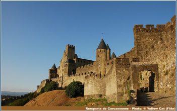 remparts Cite Carcassonne