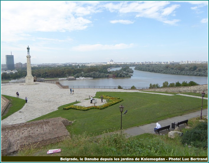 Belgrade Danube depuis Kalemegdan