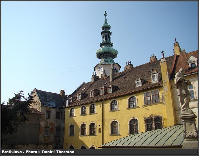 Bratislava clocher et maison