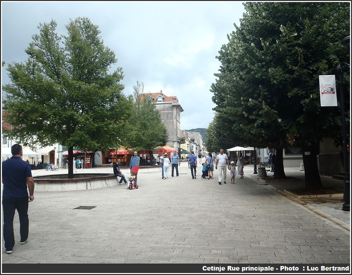 Cetinje rue principale
