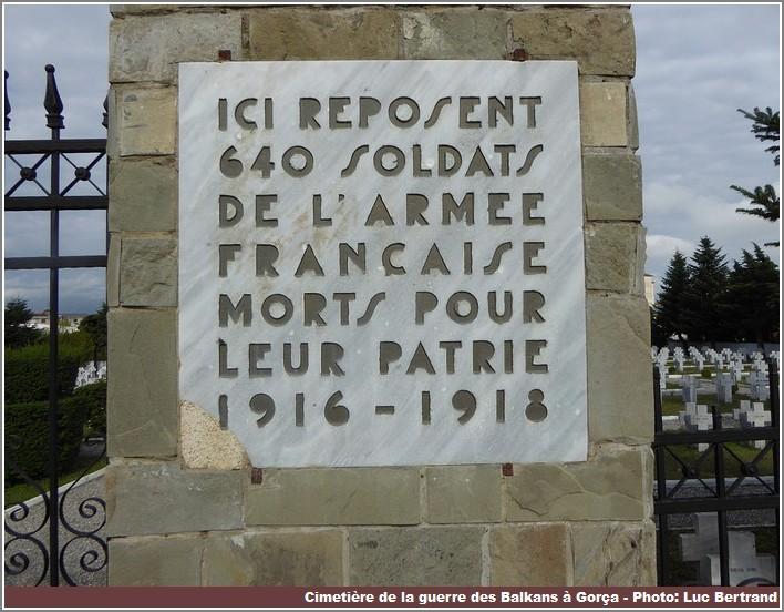 Gorça mémorial aux soldats français