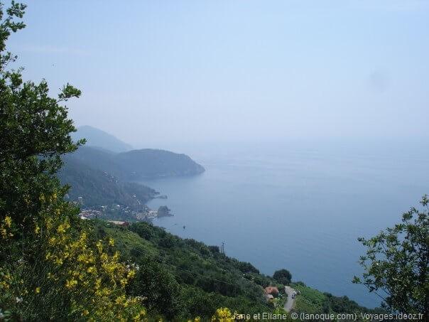 Paysage sur la côte de la région de Cinque Terre