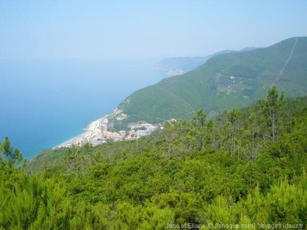 Point de vue sur le parc national de Cinque Terre