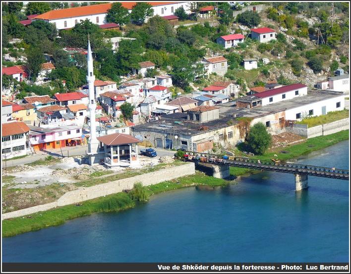 Shkoder vue depuis la forteresse