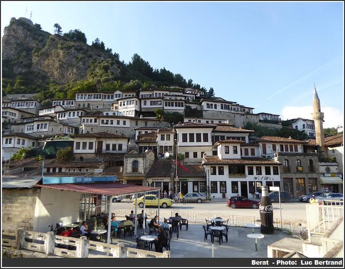 Vue de Berat Albanie