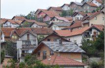 banlieue de Sarajevo sur les collines