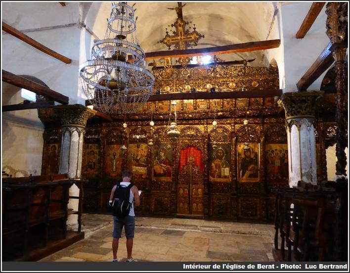 eglise byzantine interieur Berat