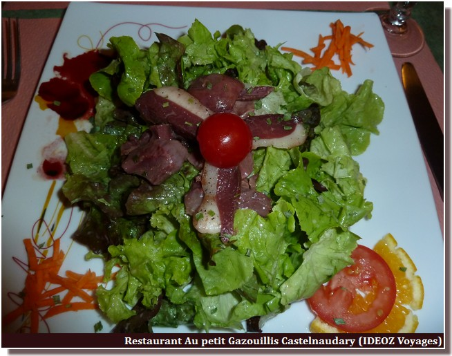 salade lauragaise restaurant au petit gazouillis castelnaudary