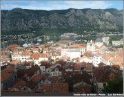 vieille ville Kotor depuis les hauteurs