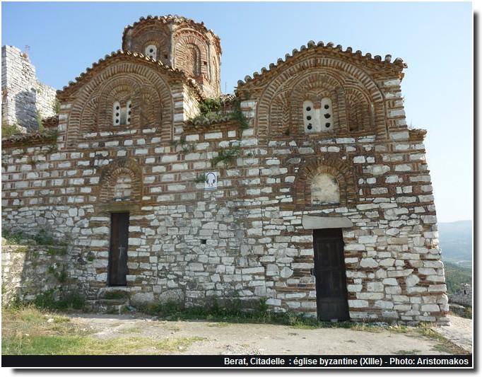 Berat citadelle eglise byzantine