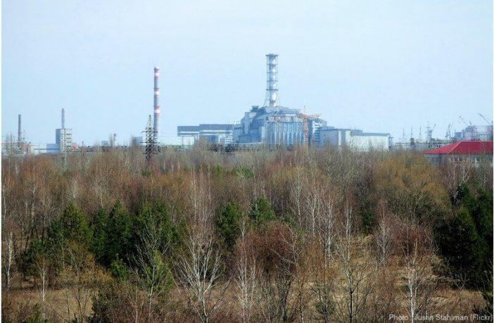 Centrale Tchernobyl Reacteur 4 et sarcophage