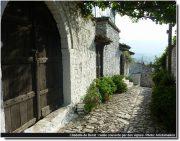 Citadelle Berat ruelle couverte par des vignes