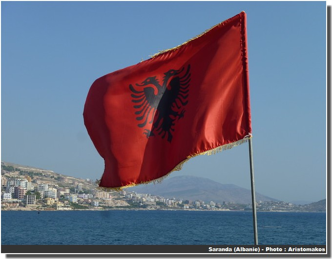 Drapeau Albanie du sud saranda