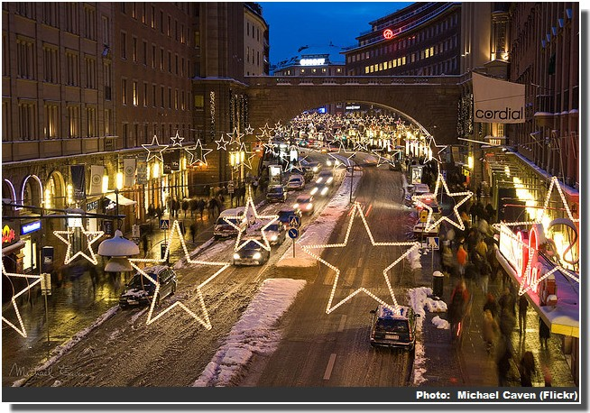 Noel Stockholm illuminations sur la route