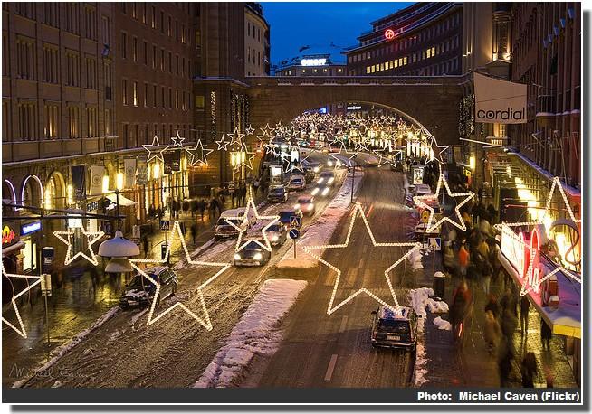 Noel Stockholm illuminations sur la route